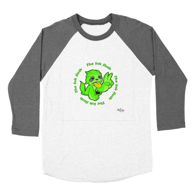 The Ink Sloth (Standard Logo) Women's Baseball Triblend Longsleeve T-Shirt by MillsburyMedia's Artist Shop