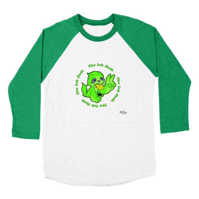 The Ink Sloth (Standard Logo) Men's Baseball Triblend Longsleeve T-Shirt by MillsburyMedia's Artist Shop
