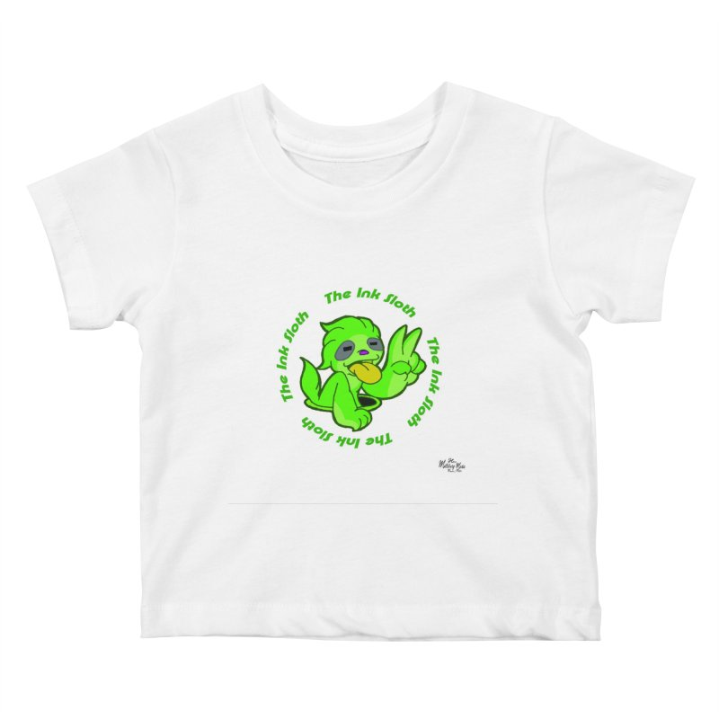 The Ink Sloth (Standard Logo) Kids Baby T-Shirt by MillsburyMedia's Artist Shop