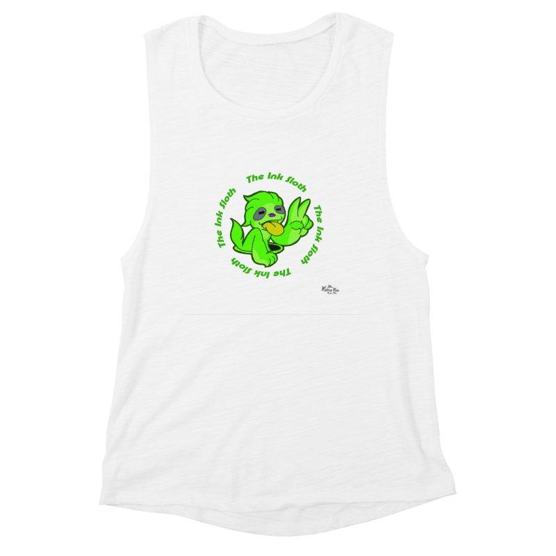 The Ink Sloth (Standard Logo) Women's Muscle Tank by MillsburyMedia's Artist Shop