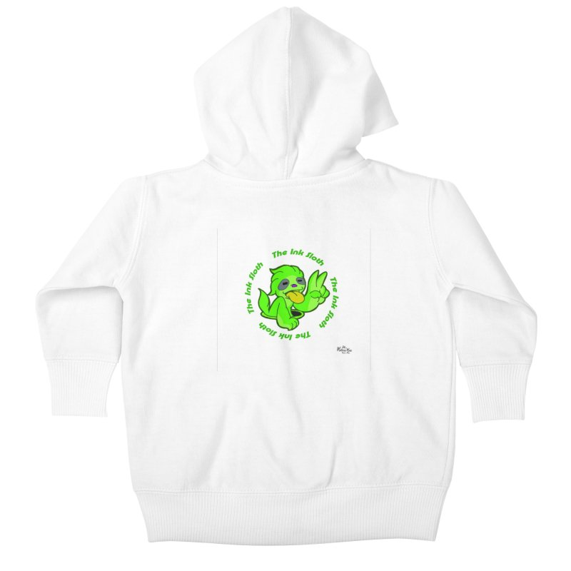 The Ink Sloth (Standard Logo) Kids Baby Zip-Up Hoody by MillsburyMedia's Artist Shop