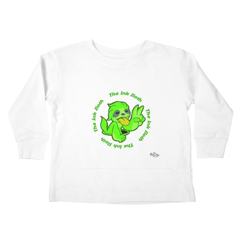 The Ink Sloth (Standard Logo) Kids Toddler Longsleeve T-Shirt by MillsburyMedia's Artist Shop