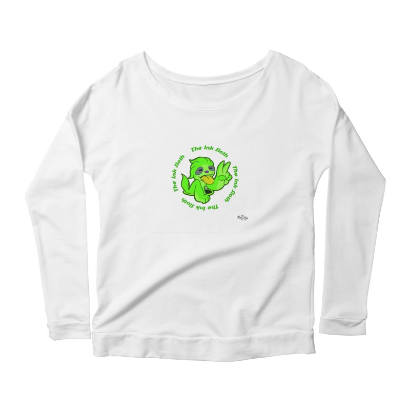 The Ink Sloth (Standard Logo) Women's Scoop Neck Longsleeve T-Shirt by MillsburyMedia's Artist Shop