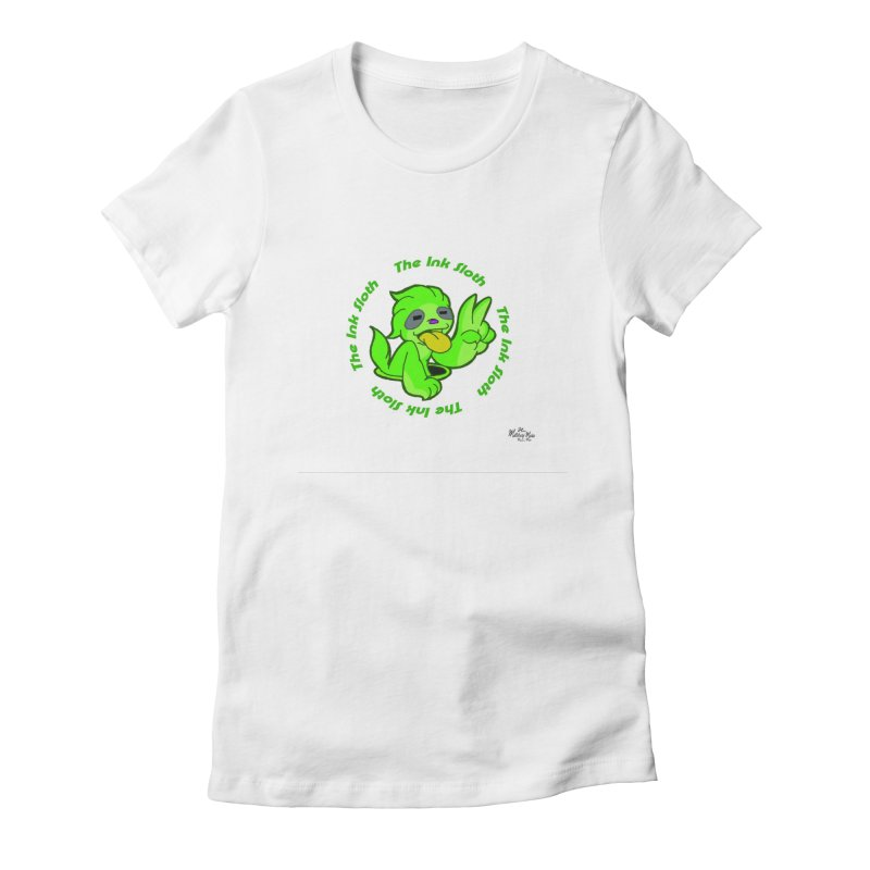 The Ink Sloth (Standard Logo) Women's Fitted T-Shirt by MillsburyMedia's Artist Shop