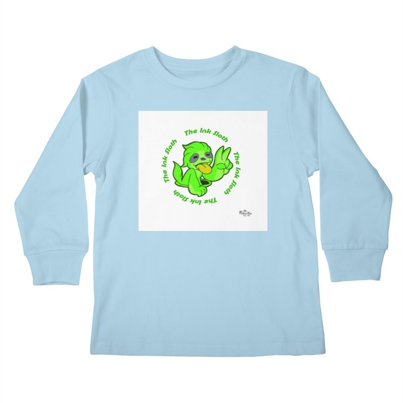 The Ink Sloth (Standard Logo) Kids Longsleeve T-Shirt by MillsburyMedia's Artist Shop