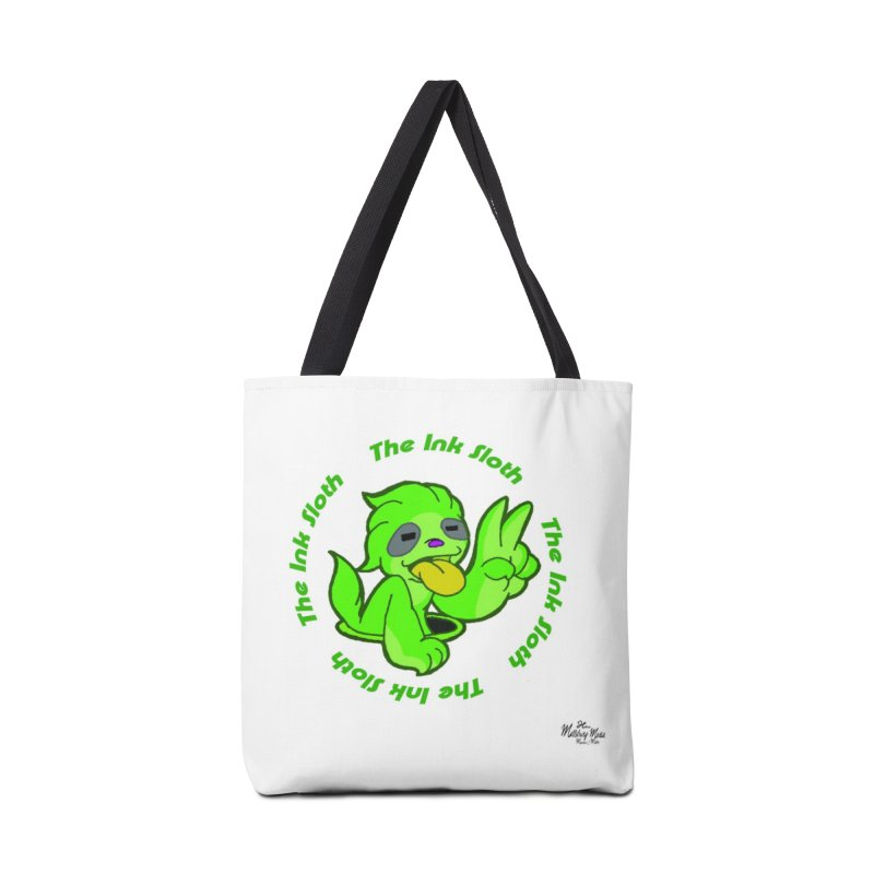 The Ink Sloth (Standard Logo) Accessories Tote Bag Bag by MillsburyMedia's Artist Shop