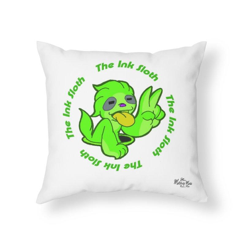 The Ink Sloth (Standard Logo) Home Throw Pillow by MillsburyMedia's Artist Shop