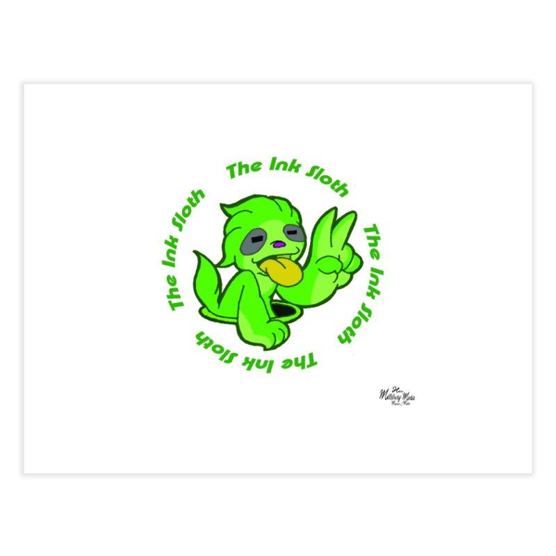 The Ink Sloth (Standard Logo) Home Fine Art Print by MillsburyMedia's Artist Shop