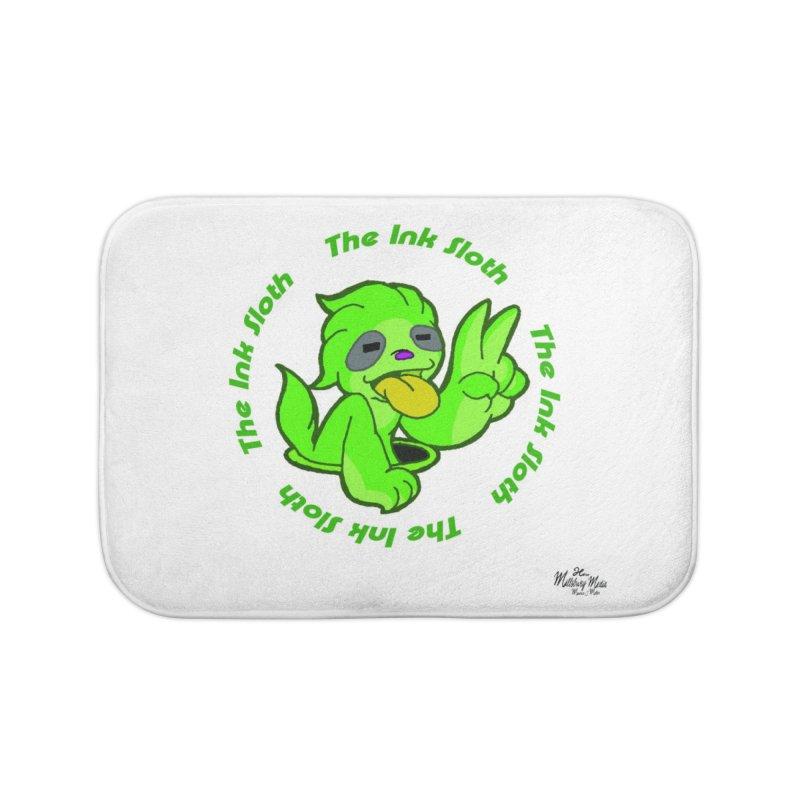 The Ink Sloth (Standard Logo) Home Bath Mat by MillsburyMedia's Artist Shop