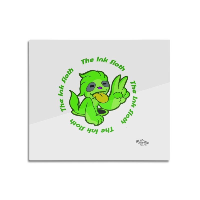 The Ink Sloth (Standard Logo) Home Mounted Aluminum Print by MillsburyMedia's Artist Shop