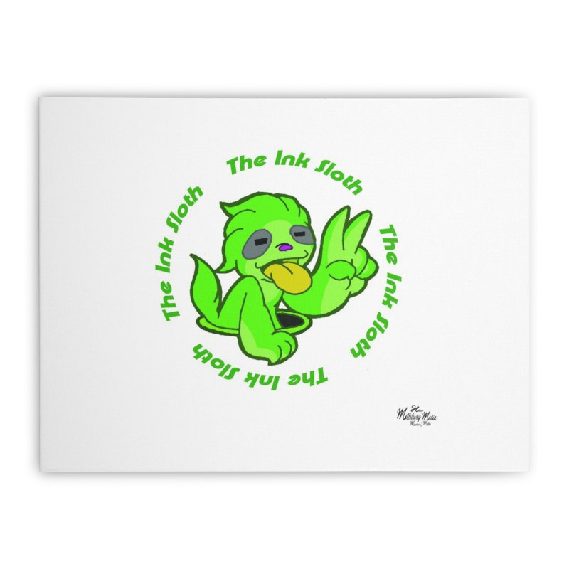 The Ink Sloth (Standard Logo) Home Stretched Canvas by MillsburyMedia's Artist Shop