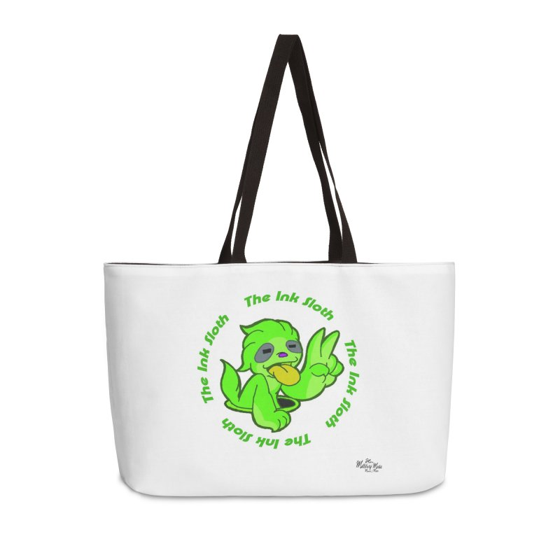 The Ink Sloth (Standard Logo) Accessories Weekender Bag Bag by MillsburyMedia's Artist Shop
