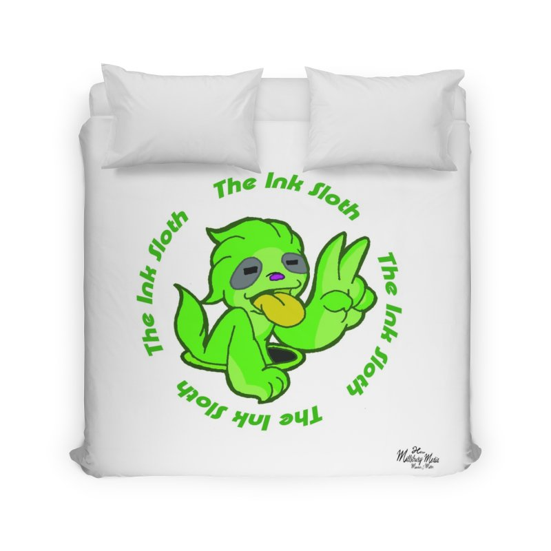 The Ink Sloth (Standard Logo) Home Duvet by MillsburyMedia's Artist Shop