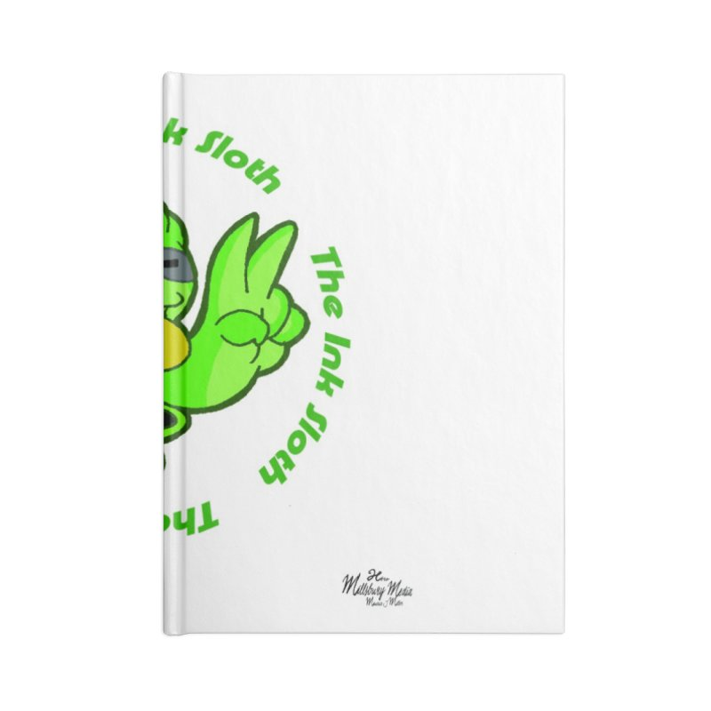 The Ink Sloth (Standard Logo) Accessories Lined Journal Notebook by MillsburyMedia's Artist Shop