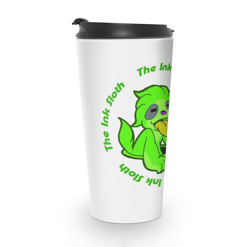 The Ink Sloth (Standard Logo) Accessories Travel Mug by MillsburyMedia's Artist Shop