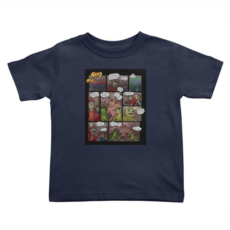 Atomic Slug First Page Kids Toddler T-Shirt by MillsburyMedia's Artist Shop