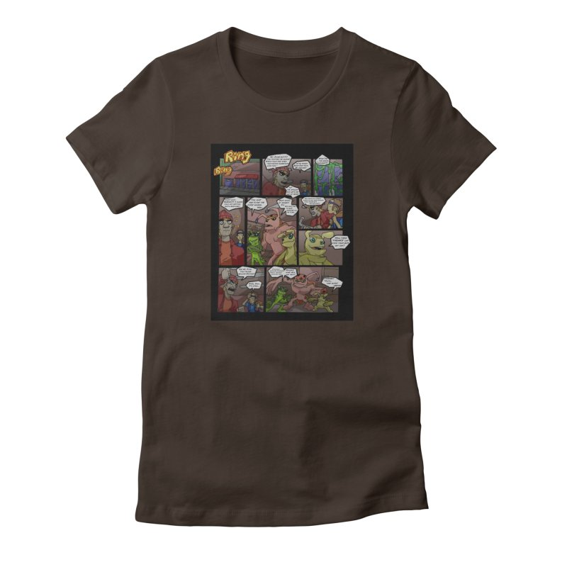 Atomic Slug First Page Women's Fitted T-Shirt by MillsburyMedia's Artist Shop