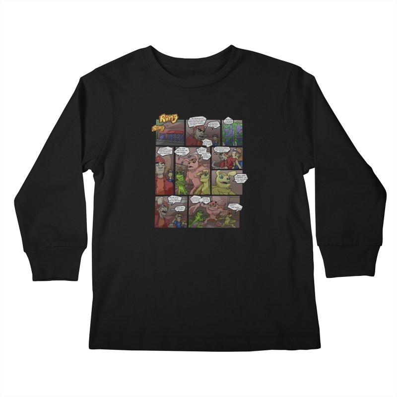 Atomic Slug First Page Kids Longsleeve T-Shirt by MillsburyMedia's Artist Shop