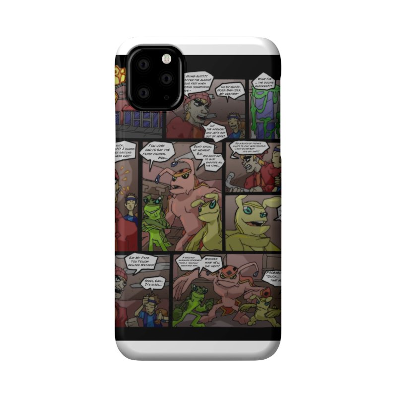 Atomic Slug First Page Accessories Phone Case by MillsburyMedia's Artist Shop