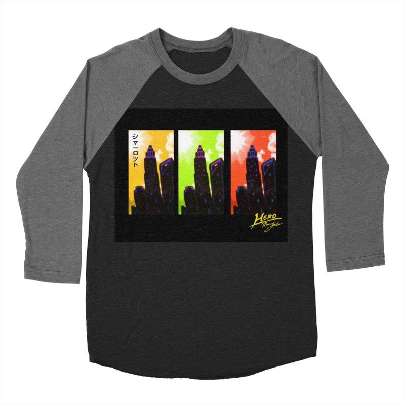 CLT Charlotte City Women's Baseball Triblend Longsleeve T-Shirt by MillsburyMedia's Artist Shop