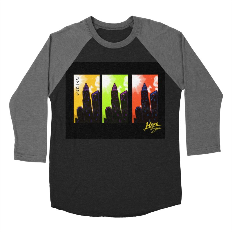 CLT Charlotte City Men's Baseball Triblend Longsleeve T-Shirt by MillsburyMedia's Artist Shop