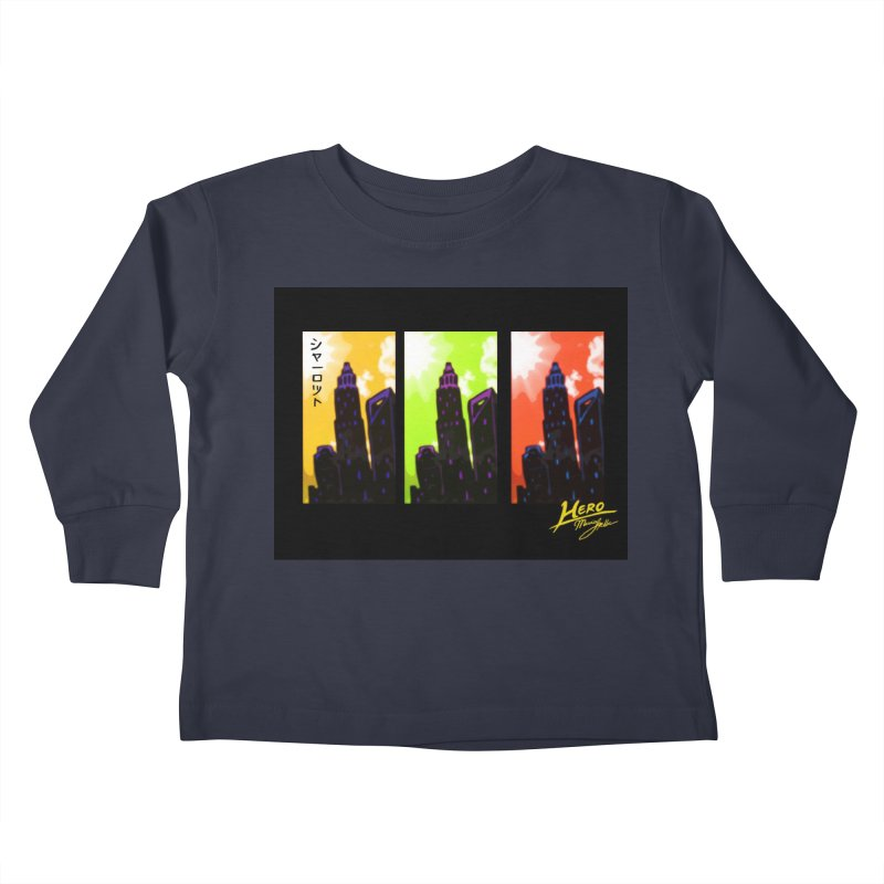 CLT Charlotte City Kids Toddler Longsleeve T-Shirt by MillsburyMedia's Artist Shop