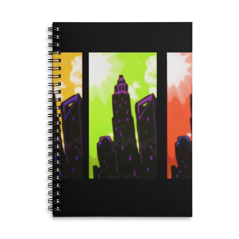 CLT Charlotte City Accessories Lined Spiral Notebook by MillsburyMedia's Artist Shop