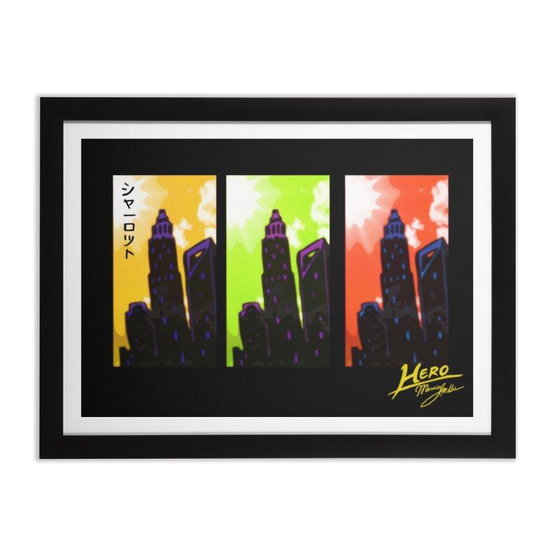 CLT Charlotte City Home Framed Fine Art Print by MillsburyMedia's Artist Shop