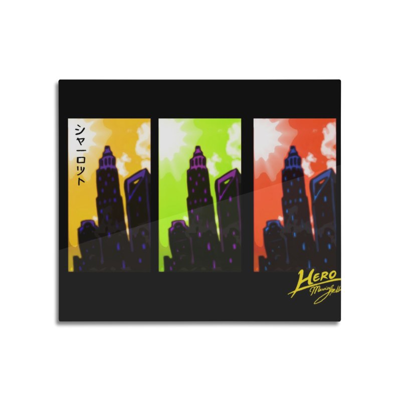 CLT Charlotte City Home Mounted Aluminum Print by MillsburyMedia's Artist Shop