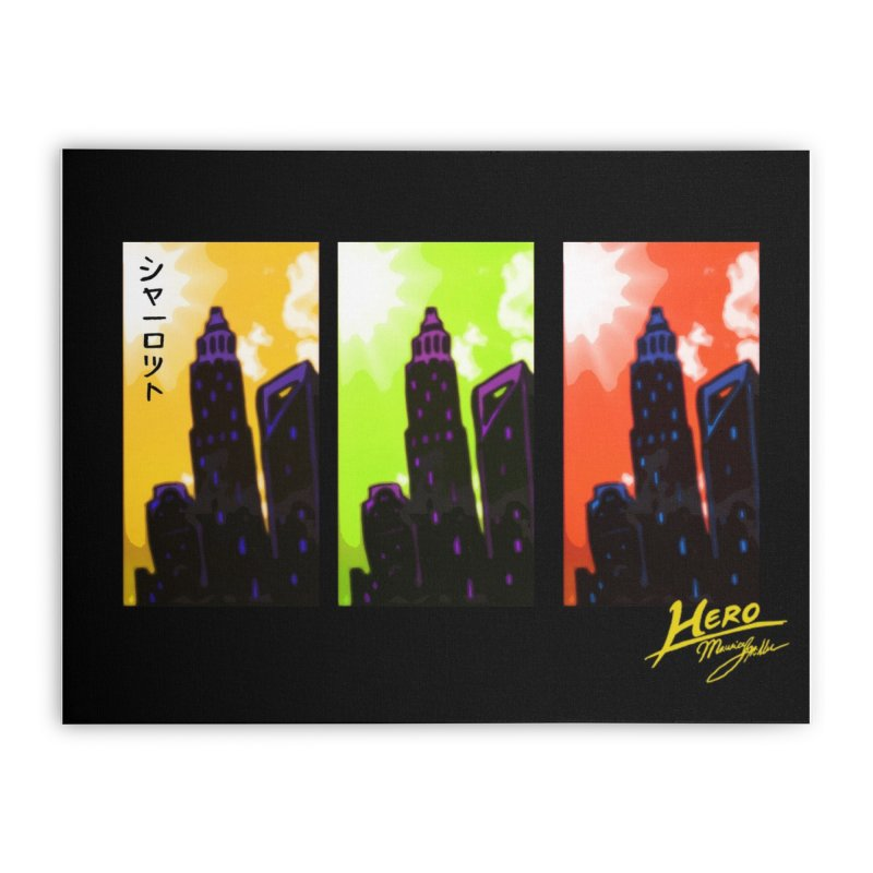 CLT Charlotte City Home Stretched Canvas by MillsburyMedia's Artist Shop