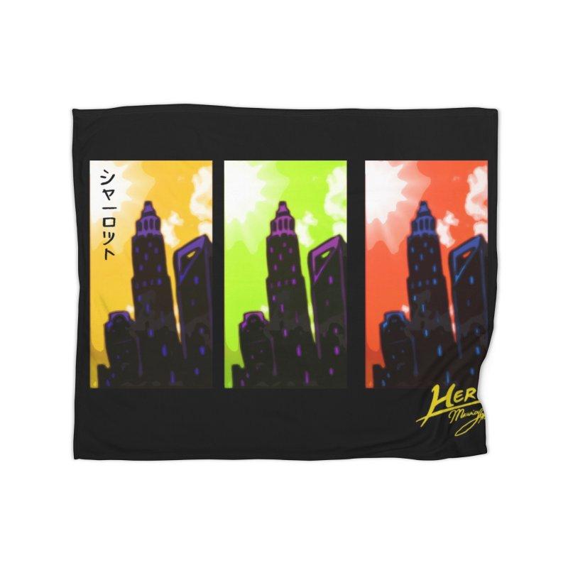 CLT Charlotte City Home Fleece Blanket Blanket by MillsburyMedia's Artist Shop