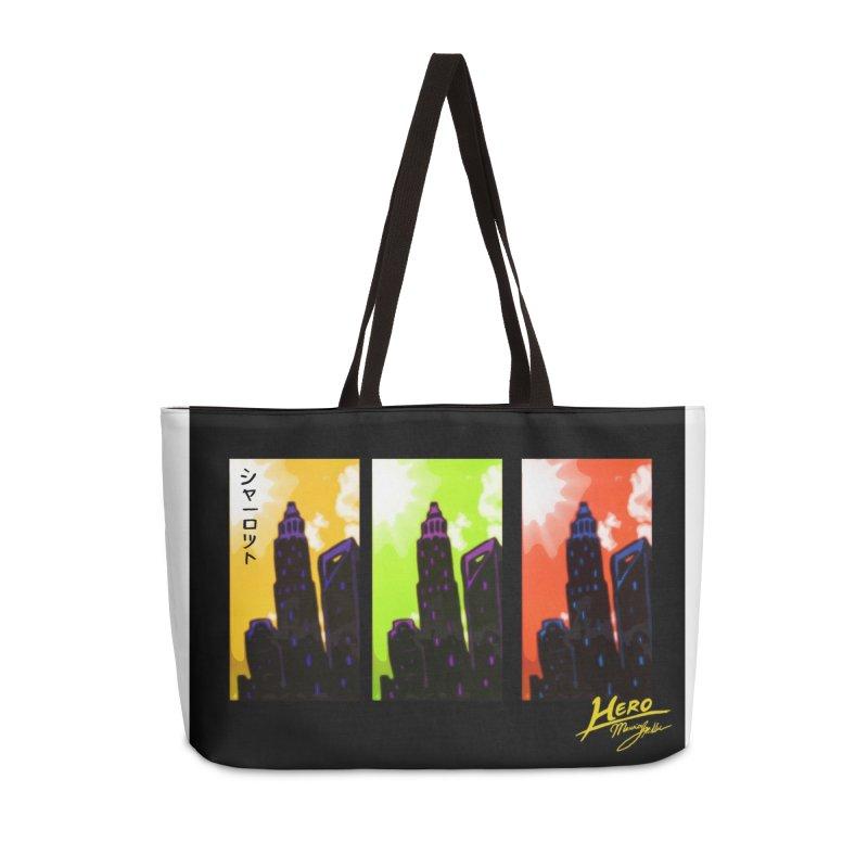 CLT Charlotte City Accessories Weekender Bag Bag by MillsburyMedia's Artist Shop
