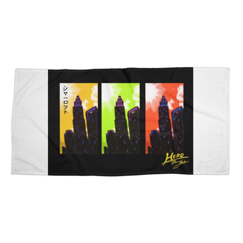 CLT Charlotte City Accessories Beach Towel by MillsburyMedia's Artist Shop
