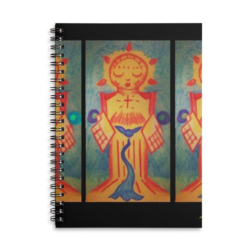 Enlightened Path Accessories Lined Spiral Notebook by MillsburyMedia's Artist Shop