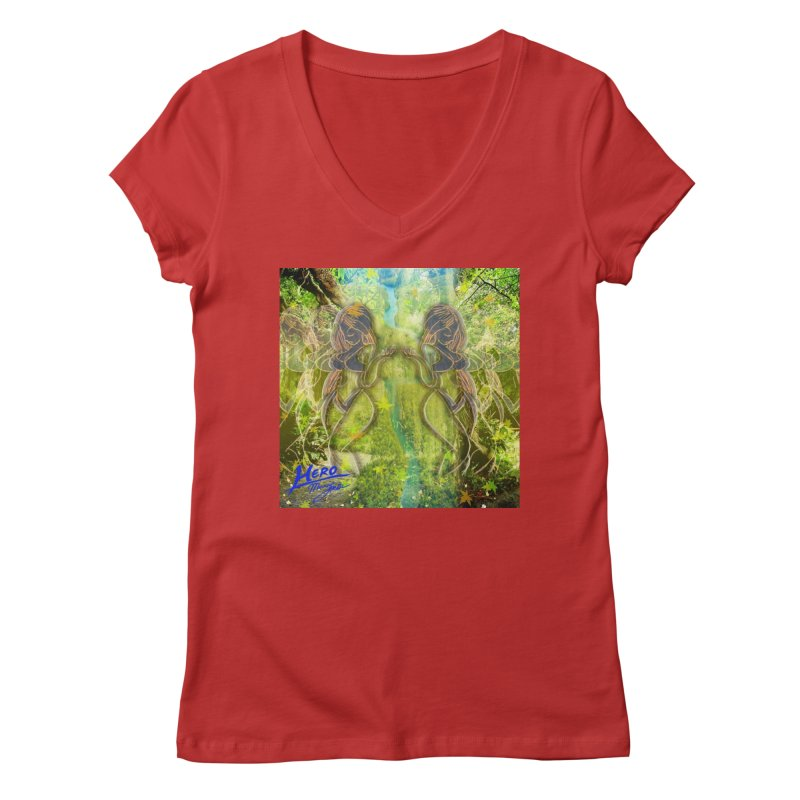 Amazon Girl Women's Regular V-Neck by MillsburyMedia's Artist Shop