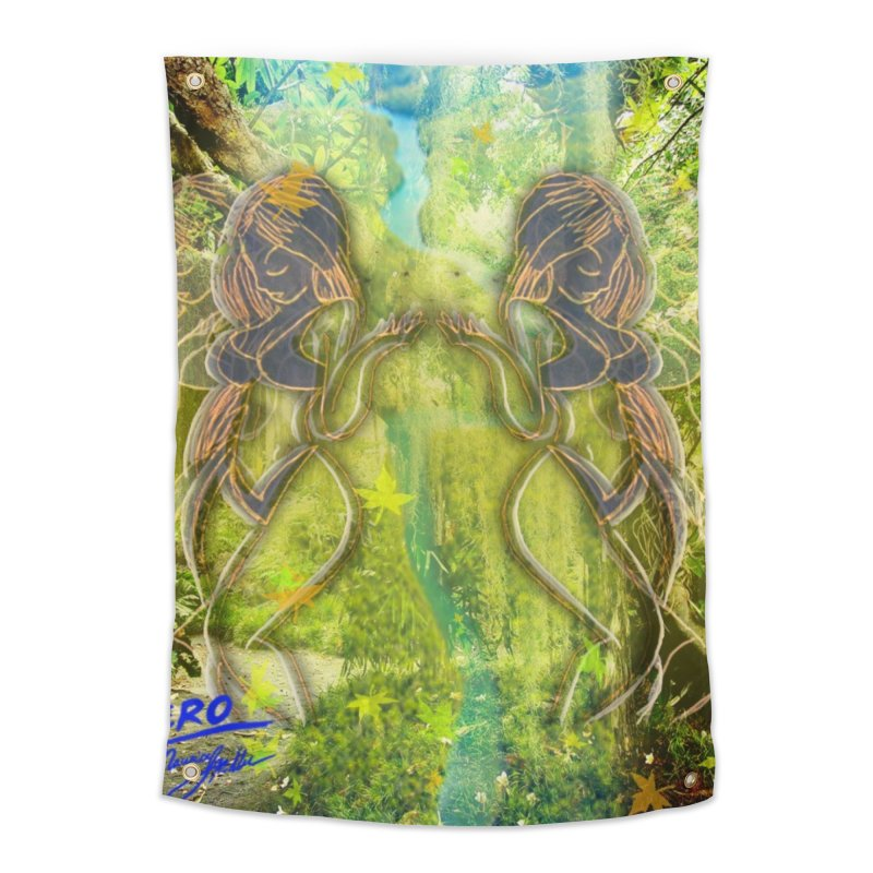 Amazon Girl Home Tapestry by MillsburyMedia's Artist Shop