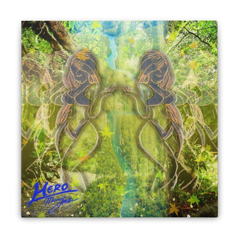 Amazon Girl Home Stretched Canvas by MillsburyMedia's Artist Shop