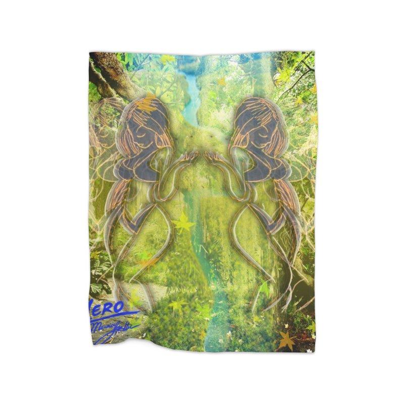 Amazon Girl Home Fleece Blanket Blanket by MillsburyMedia's Artist Shop