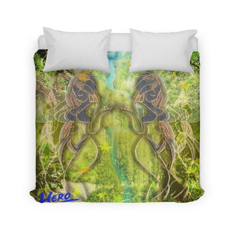 Amazon Girl Home Duvet by MillsburyMedia's Artist Shop