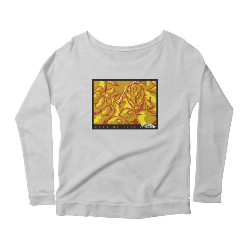 Hand of Fate Version Two Women's Scoop Neck Longsleeve T-Shirt by MillsburyMedia's Artist Shop