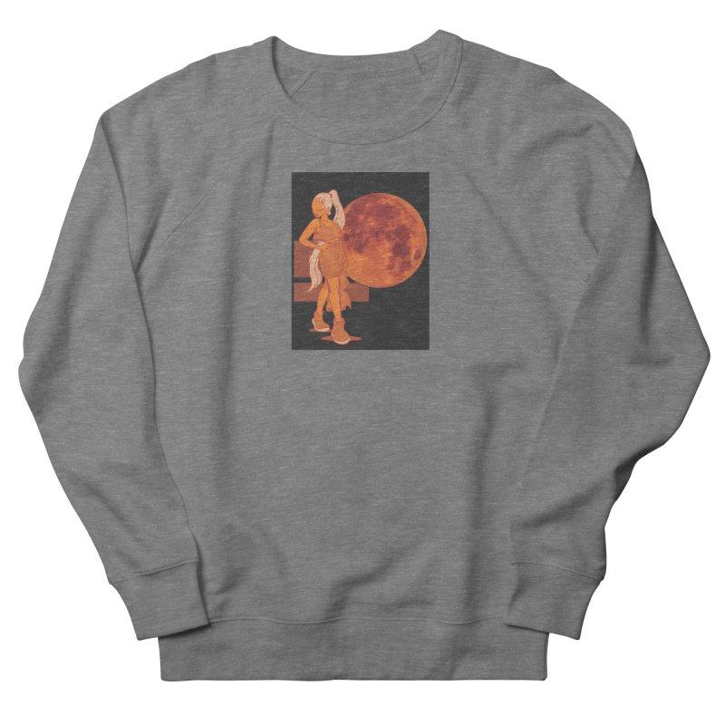 Red Moon Men's French Terry Sweatshirt by MillsburyMedia's Artist Shop