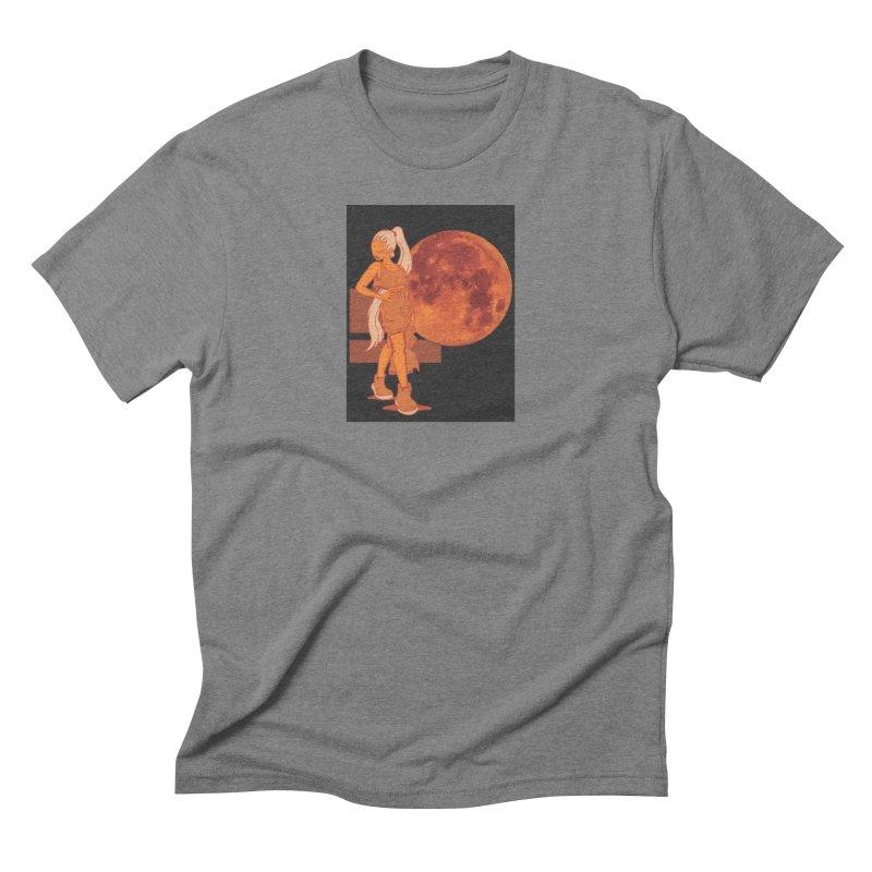 Red Moon Men's Triblend T-Shirt by MillsburyMedia's Artist Shop
