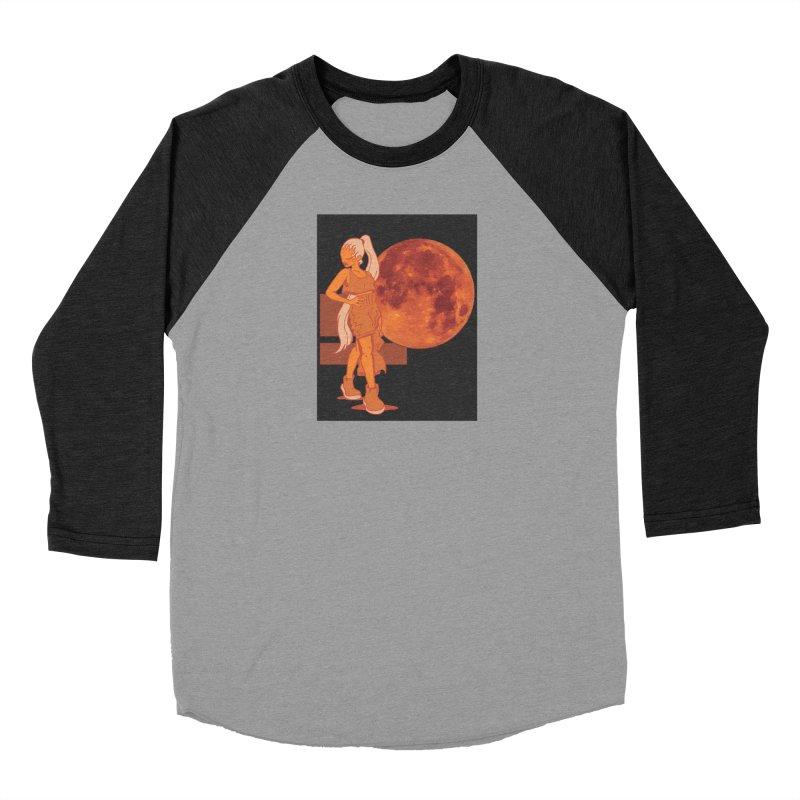 Red Moon Women's Baseball Triblend Longsleeve T-Shirt by MillsburyMedia's Artist Shop