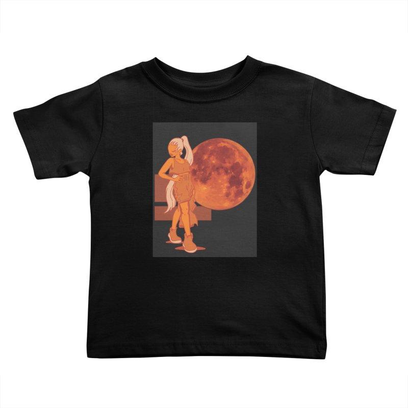 Red Moon Kids Toddler T-Shirt by MillsburyMedia's Artist Shop