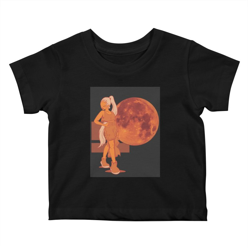 Red Moon Kids Baby T-Shirt by MillsburyMedia's Artist Shop