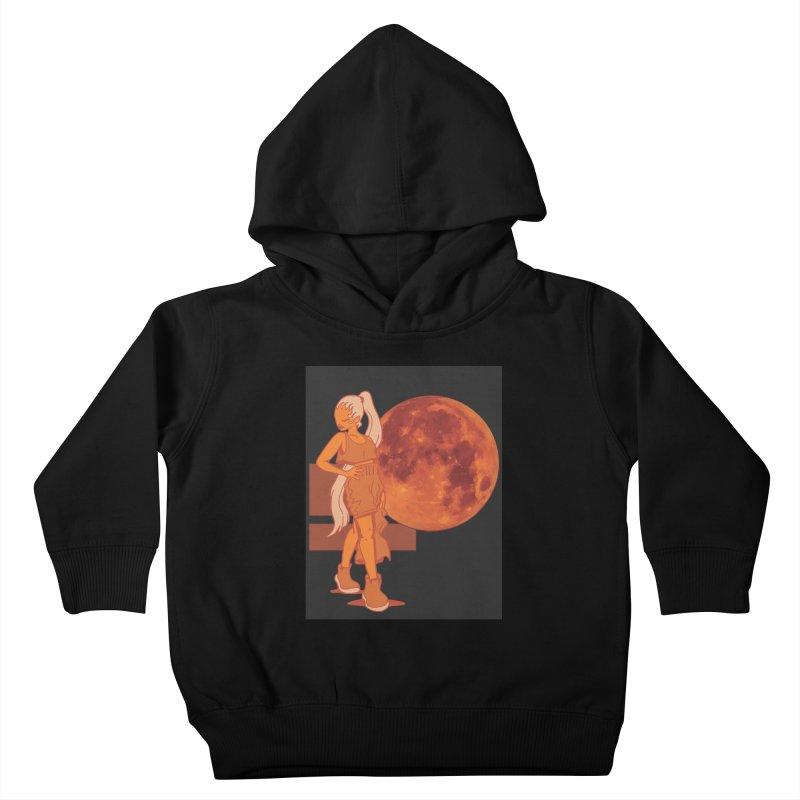 Red Moon Kids Toddler Pullover Hoody by MillsburyMedia's Artist Shop