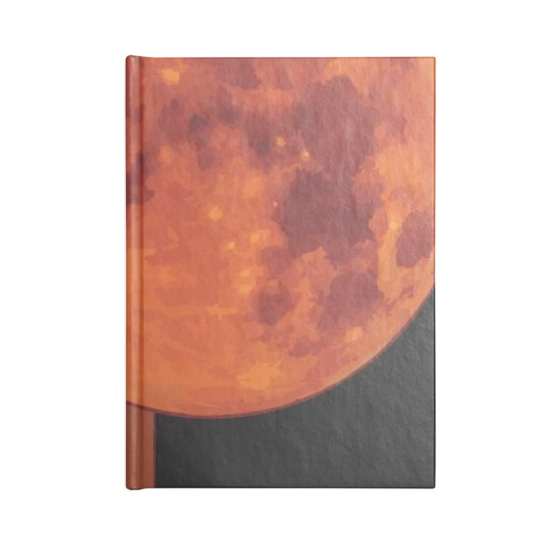 Red Moon Accessories Lined Journal Notebook by MillsburyMedia's Artist Shop