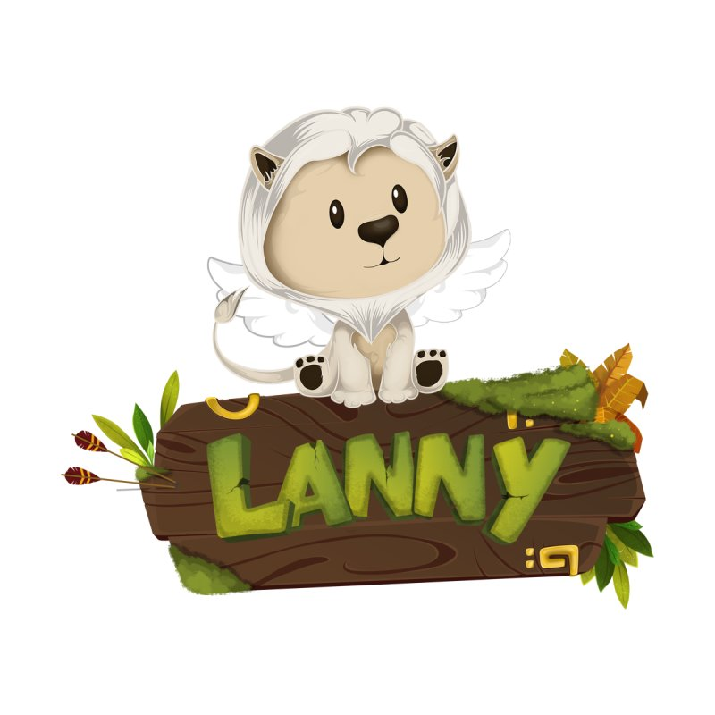 Lanny the Lion Kids Pullover Hoody by Mimundogames's Artist Shop