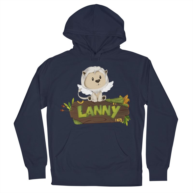 Lanny the Lion Women's French Terry Pullover Hoody by Mimundogames's Artist Shop
