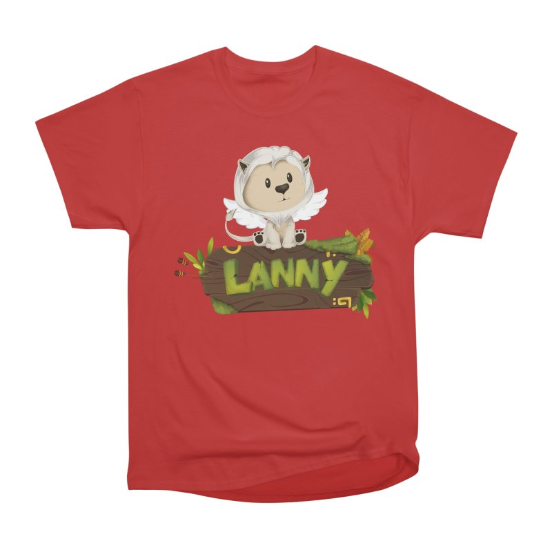 Lanny the Lion Women's Heavyweight Unisex T-Shirt by Mimundogames's Artist Shop